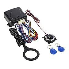 KKmoon Car Engine Switch, RFID Car Alarm, Car Engine Push Start Button Safe Lock Lgnition Switch Keyless Entry Starter Anti-theft System