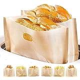 Lot de 9 sacs à pain anti-adhésifs pour micro-ondes, grille-pain et four - Qualité supérieure - Réutilisables jusqu'à 100 foi