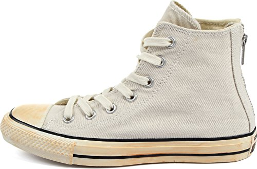 Converse Chuck Taylor All Star Homme Vintage Washed Back Zip Twill HI, Sneaker Unisex – Adulto Grigio (Turtledove)