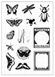Tic-Tac Nouveaux Timbres Scrapbook Tampons Clear Stamp 16x11cm Insecte