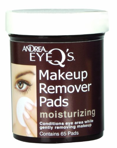 Andrea Eye Q's Moisturizing Makeup Remover Pads, 65-Count (Pack Of 3) by Andrea -