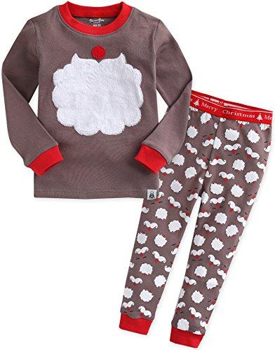 Santa 2 Stück Set (Vaenait baby Kinder Jungen Nachtwaesche Schlafanzug-Top Bottom 2 Stueck Set Winter Santa M)