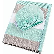 Republe Candy Farbe Baby Decke Baby Bio Acryl Gestrickte Neugeborenen Swaddle Tuch Wrap Kleinkind Swaddler 100X80CM