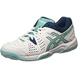 ASICS - Gel-padel Pro 3 Sg, Zapatillas de Tenis Mujer, Blanco (white/pool Blue/blue Steel 0139), 37 EU