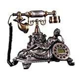 R&Y Retro Telefon Bürotelefon Retro Telefon - Vintage Telefon Festnetztelefone, Tastenwahl Schreibtisch Telefon