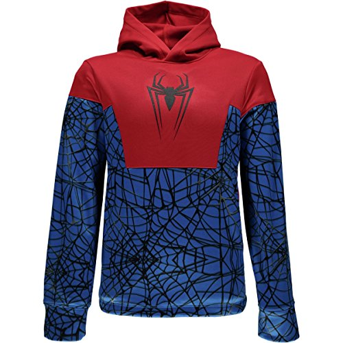 Spyder Active Sports Boy 's Marvel Riot Pullover Hoodie, Jungen, French Blue/Spiderman, xl (Spider Kids Hoodie)
