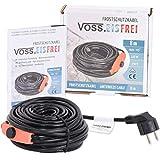 Frostschutz Heizkabel mit Knopf-Thermostat   VOSS.eisfrei   1m 2m 4m 8m 12m 14m 18m 24m 37m 49m   230V   Heizleitung Zum Schutz von Wasserleitungen und Weidetränken