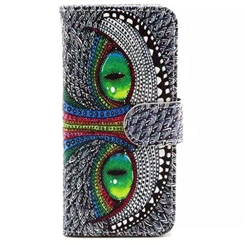 Gift_Source iPhone 6 hülle, iPhone 6S hülle, Brieftasche Ledertasche Bookstyle Schutzhülle Leder Flip case Etui for Apple iPhone 6S/6 4.7 inch [ Regenbogen ] E01-01-Owl
