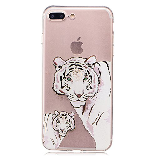 iPhone 7 Plus hülle Case Cozy Hut Ultra Hybrid TPU Bumper for iPhone 7 Plus Hülle Schutzhülle Shock Absorption Plating TPU Case Silicone Cover für iPhone 7 Plus (5,5 Zoll) (2016) - Lotus Tiger