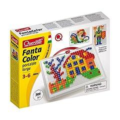 Idea Regalo - Quercetti- Fanta Color Portable Large Gioco di Composizione, Multicolore, 303 Pezzi, 0954, 3 - 6 anni