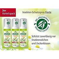 Plantacos Insekten-Schutzspray Forte - 3er Vorteilspack - Mit pflanzlichem Wirkstoff - Schützt zuverlässig vor... preisvergleich bei billige-tabletten.eu
