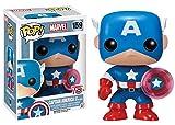 Funko 024964Pop Marvel: Capitán América con Photon Shield 75th Anniversary Limited 159Vinilo de Bobble Head
