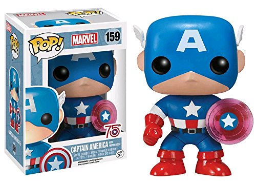 vel: Captain America mit Photon Shield 75th Anniversary Limited 159 Vinyl Bobble-Head (Captain America-shield-spielzeug)