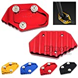 BJ Global Motorcycle CNC Kickstand Side Stand Extension Foot Pad Plate Side Stand Enlarger Pad For Yamaha YZF-R25 2013-2018 Yzf -R3 2015-2018 YZF-R3 ABS 2018