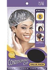 Bonnets en plastique transparent pour soins des cheveux (lot de 8) - charlottes