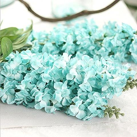 GT Künstliche Blumen Einzige Zweigstelle, Violett, Feiyan Gras, Weihnachten Ideal für Hochzeit, Braut, Party, zu Hause, Büro Einrichtung