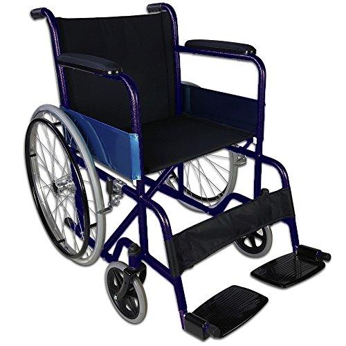 Rollstuhl faltbar und autopropulsable | Rohre in blau | | Modell Alcázar Sitz | Breite: 50cm
