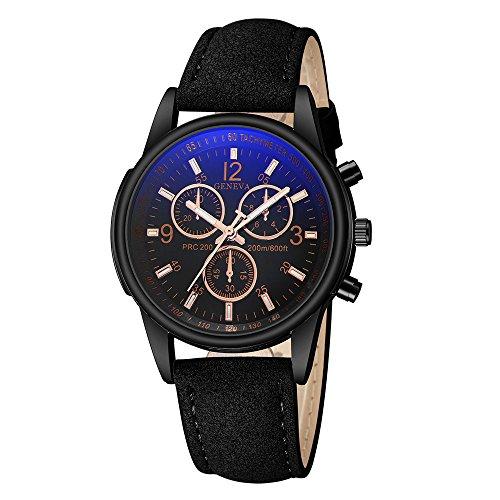 ALIKEEY Uhren Watches For Men Diesel Blaue Strahlen-Quarz-analoge Watches der Luxusmode-Kunstleder-Herren Mehrfarbig