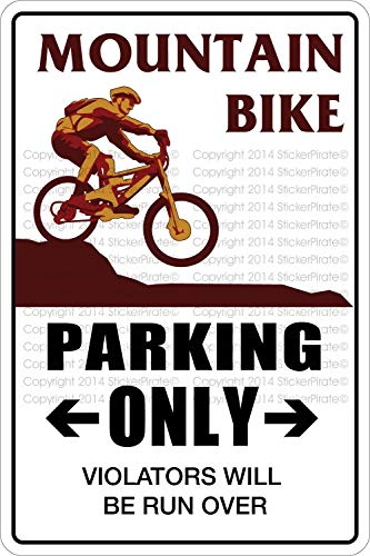 qidushop Blechschild, Motiv: Mountain Bike Parking Only, 20 x 30 cm