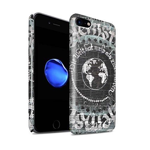 STUFF4 Glanz Snap-On Hülle / Case für Apple iPhone 8 / Nachricht Muster / Städtisch Straße Kunst Kollektion Weltfrieden