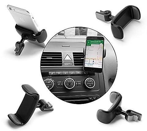 KAIOVA® - KFZ PKW Auto Halterung für Smartphone Handy am Armaturenbrett Lüftungsauslass - Universal 360°-Drehung Multi-Winkel Handyhalterung Halter Lüftung Lüftungsschlitz Belüftung Universal Autohalterung Halter Autohalterung - car phone holder mount