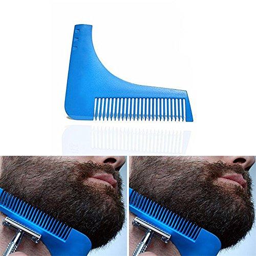 Beard Shaping Tool & Peine, SUNNIOIR Beard Styling y Shaping Plantilla Comb...