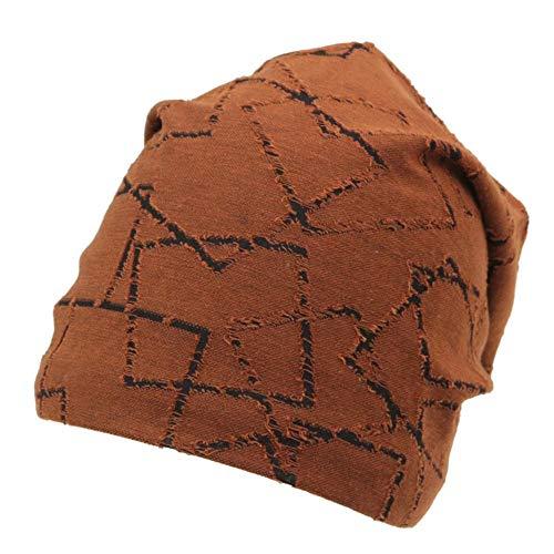 LL Damenhut Frauen Hüte mit Kapuze Hut Herbst und Winter Loch-förmigen Motorhaube Männer dünnen Abschnitt Baumwolle Glatze Cap (Farbe : A)