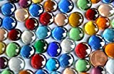 150g Mini Glasnuggets 10-15mm bunt ca. 70-80 St. Deko Mosaiksteine Muggelsteine Glassteine
