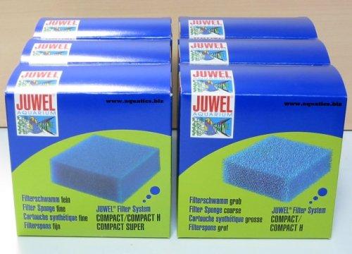 Juwel Filter Fine &Verlauf Compact Schwamm Bulk Pack (3 x 3 Stück)