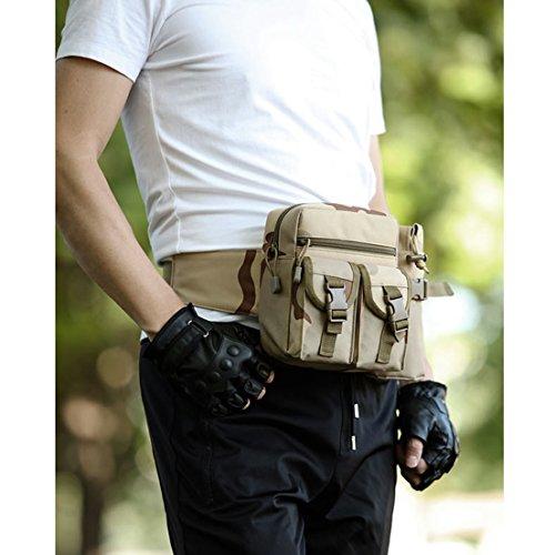 SAMGOO Unisex Beinbeutel Taschen Hüfttasche Gürteltasche wasserdicht bauchtasche Sports Outdoor flaschenhalter Trinkflasche Halter Pouch waist bag für Wandern Laufen Radfahren Camping Tarnung