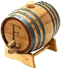 Cathy's Concepts Personalized Original Bluegrass Barrel, Medium, Letter F
