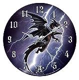 Wanduhr,Uhr Lighting Dragon by Alchemy ca 34 cm