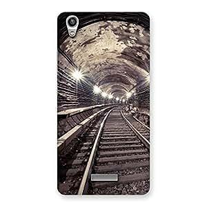 Impressive Track in Tunnel Back Case Cover for Lava-Pixel-V1