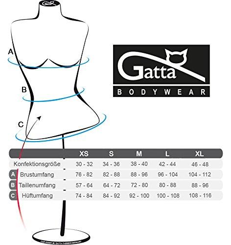 Gatta Body Camisole String - eleganter Body mit Spaghettiträgern tiefer Ausschnitt hoher Tragekomfort ohne Seitennähte Weiß