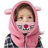 YUANMY Cappellino Bambino Invernale Berretto Animale Cappuccio Orecchie Ragazzo Ragazza con Paraorecchie Suit per Bambini di 3-12 anni