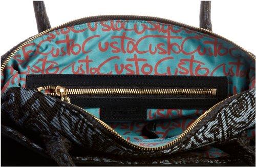 Custo 2720034 Jacquard, Borsa tote donna Nero (Multicolore)
