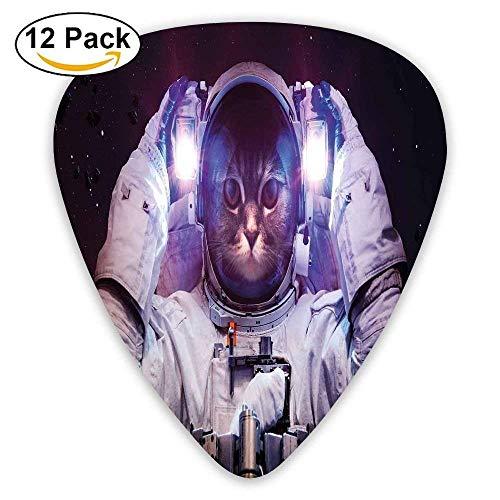 Kitty In Cosmonaut Suit In Galaxy Stars Supernova Design Guitar Picks 12/Pack