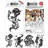 Tatuaggio tribale per uomo/tatuaggio grande dimensione 21 x 15 cm, colore nero molto realistico