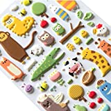 Cosanter Cute Animal Stickers Brosuper bolle 3D Stickers-Adesivi decorativi, motivo: adesiv