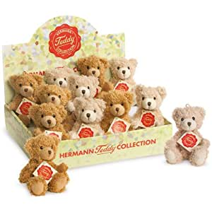 Teddy Hermann 90904 Teddy 4-fold 14cm 2-colour Assorted - Price per 1 Teddybear