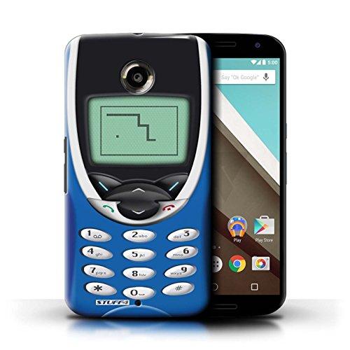 Kobalt® Imprimé Etui / Coque pour Motorola Nexus 6 / Nokia 8210 bleu conception / Série Portables rétro Nokia 8210 bleu