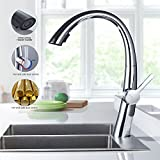 360° Messing Einhebel Küchenarmatur mit ausziehbarem Auslauf für Küche & Waschbecken
