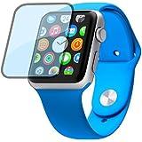 PhoneStar Vollbild Panzerglas Echt Glas Protector Schutzglas Screenprotector Displayschutz Tempered Glass mit abgerundeten Kanten für Apple Watch 42mm