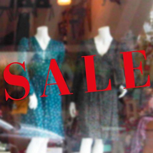 Sale Sticker Verkauf Geschäft Vinyl Aufkleber Fensterbeschriftung Wandkunstzeichen Frontdesign außen