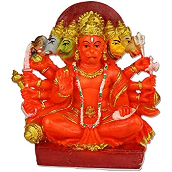 Ratnatraya VZL047 Brass Panchmukhi Sitting Hanuman