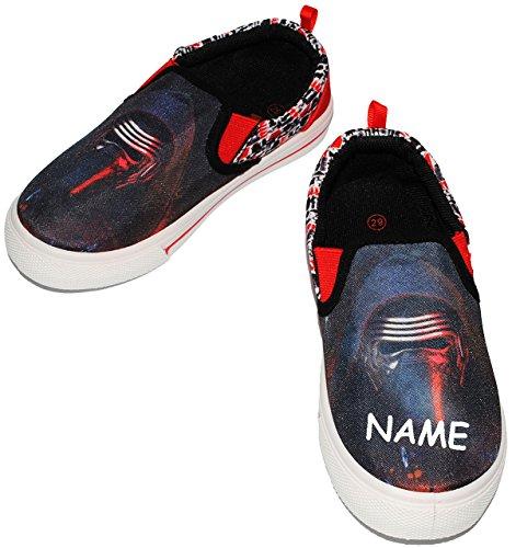 "Canvas Schuhe / Sneaker - Größe 30 - "" Star Wars -Kylo Ren "" - incl. Name - mit Profilsohle - Sportschuhe & Turnschuhe / Leinenschuhe - rutschfeste Schuhe Schuh / für Kinder - Jungen / Hausschuhe Gart"