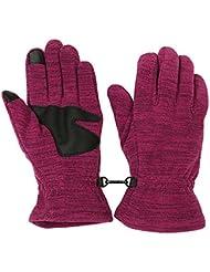 Longless Otoño e Invierno unisex exterior resistente al desgaste antideslizante cálida lana guantes