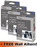 Fujifilm Instax Wide Monochrome Film Triple Pack (30Aufnahmen) + Gratis Wand Album