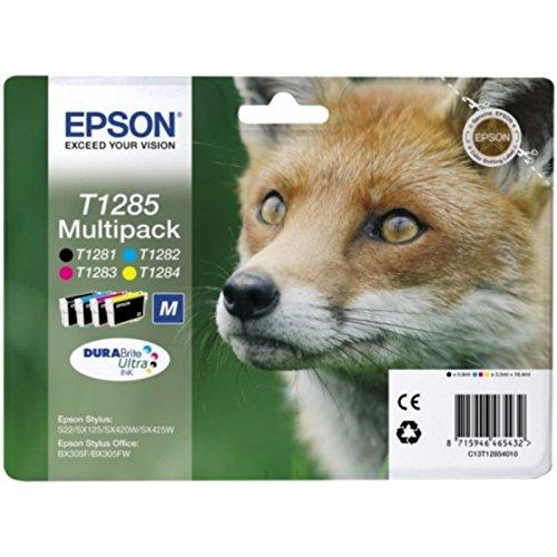 Epson–Epson Stylus SX 435W d'origine (T1285/c13t12854020)–Cartouche d'encre multi pack (Noir, Cyan, Magenta, Jaune)