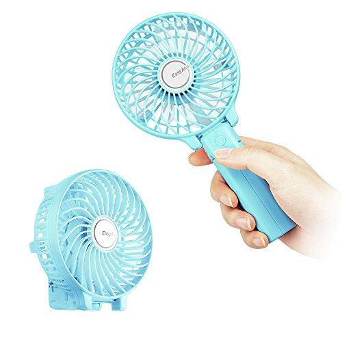 EasyAcc Palmare Mini Ventilatore Elettrico Con Batteria Ricaricabile Di LG, Manico Pieghevole, Il Gancio Da Ombrello E Da Scrivania -- Verde